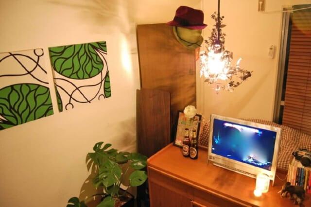 アジアンテイストを意識して作った一人暮らしの男の部屋