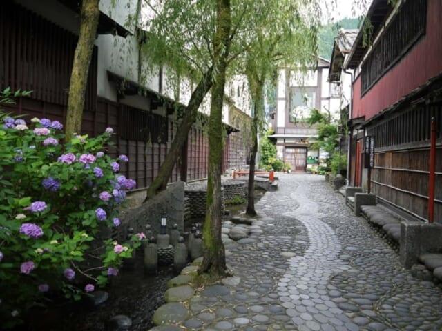 梅雨の風情を存分に味わえるあじさいが咲く古い街並みを散策デート