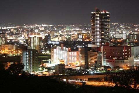 花岡山から見る熊本市内の夜景