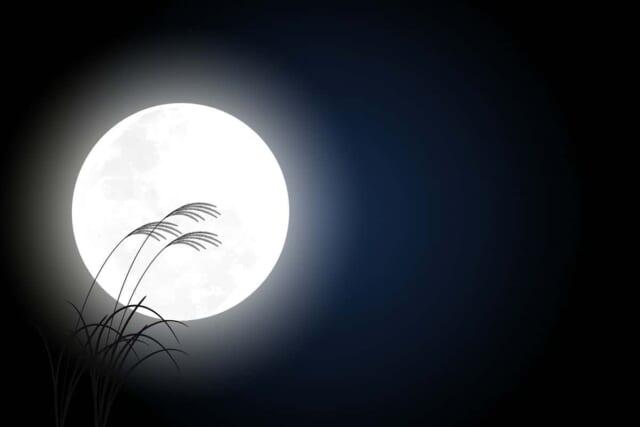 秋の夜長をイメージした画像