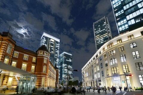 KITTEが撮影された東京駅付近の写真