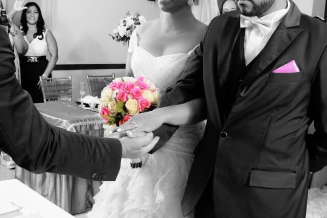 結婚式場でのワンシーン