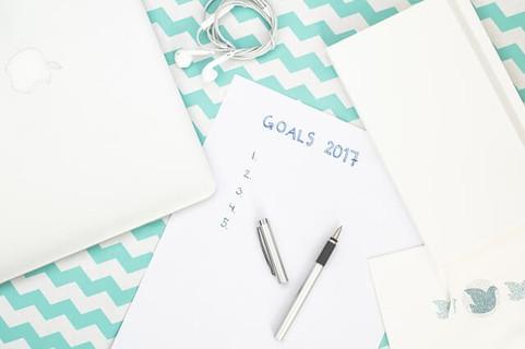 メモ帳に書かれた空白のままの2017年目標リスト
