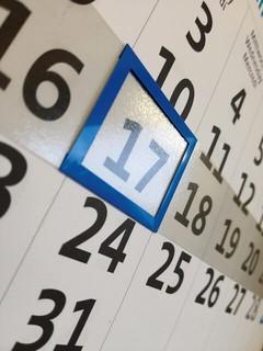 1週間ごとにフォーカスできるよう工夫されたカレンダー