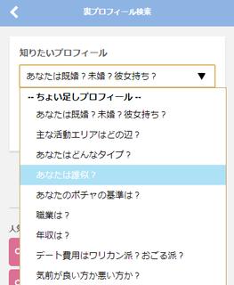 裏プロフィール検索の知りたいプロフィール一覧