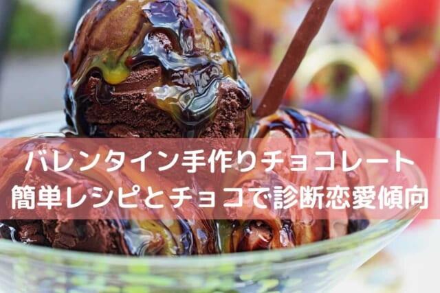 チョコレートソースがたっぷり掛かっている美味しそうな手作りチョコレート