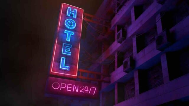 セックスをするためにラブホテルに向かうカップルの様子